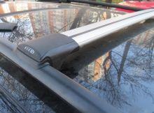 Багажник на рейлинги, Fico, аэродуги, 2 цвета