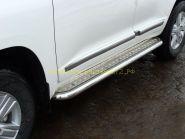 Пороги с площадкой 60 мм (TOYLC20012-02) для Toyota Land Cruiser 200 2012