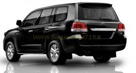 Защита штатных порогов 25 мм (ZSE1NJ2025P) для Toyota Land Cruiser 200 2008 -