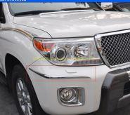 Хромированные молдинги на передний бампер для Toyota Land Cruiser 200 2012