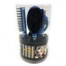 Подарочный набор расчесок для волос Cecilia, 5 шт, Цвет: Синий