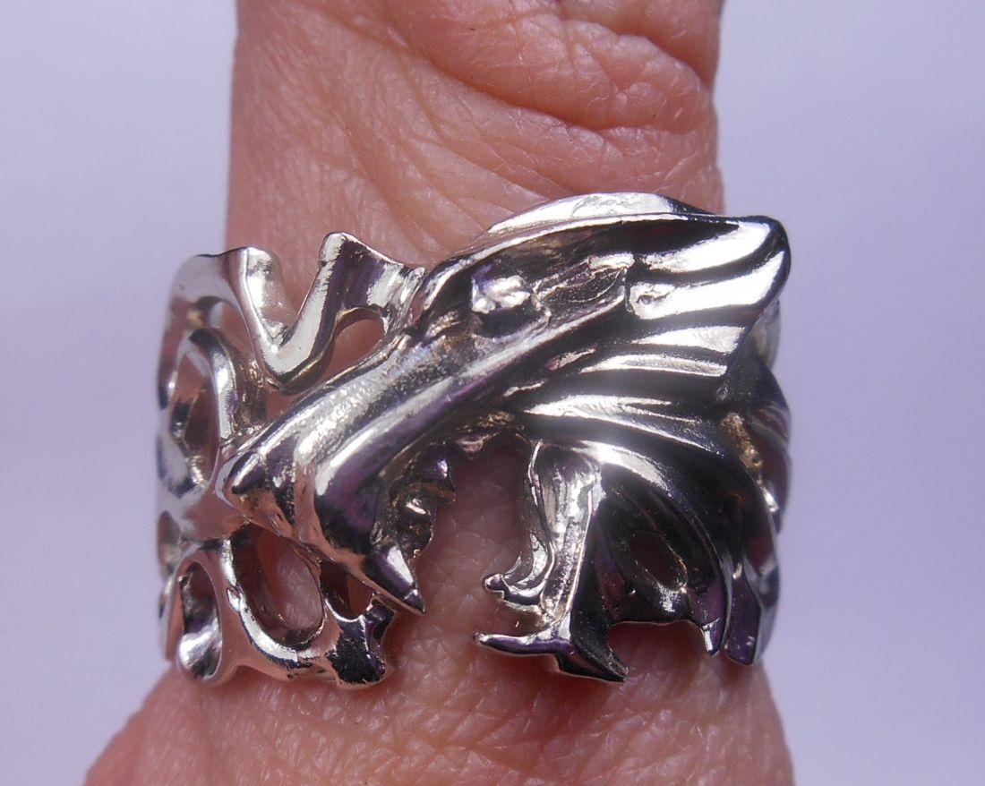 """Кольцо  """"Волк"""" латунь и покрытие под серебро"""