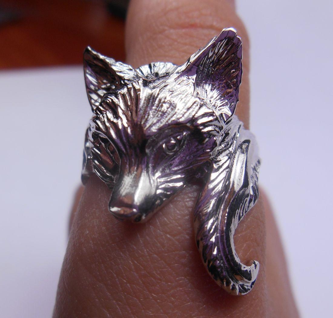 """Кольцо  """"Лиса"""" латунь и покрытие под серебро"""