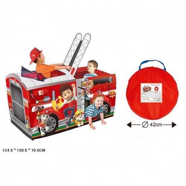 Палатка детская игровая пожарная машинка HF089-A