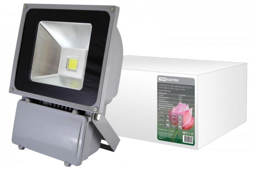 TDM прожектор светодиодный СДО70-1 70W 6000K серый IP65 SQ0336-0005