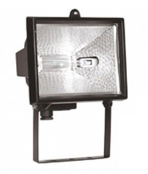 Прожектор ИО500 галогенный  черный  IP54  IEK