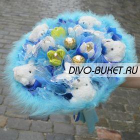 """Букет из мишек №327-5К """"Весенний хоровод"""""""