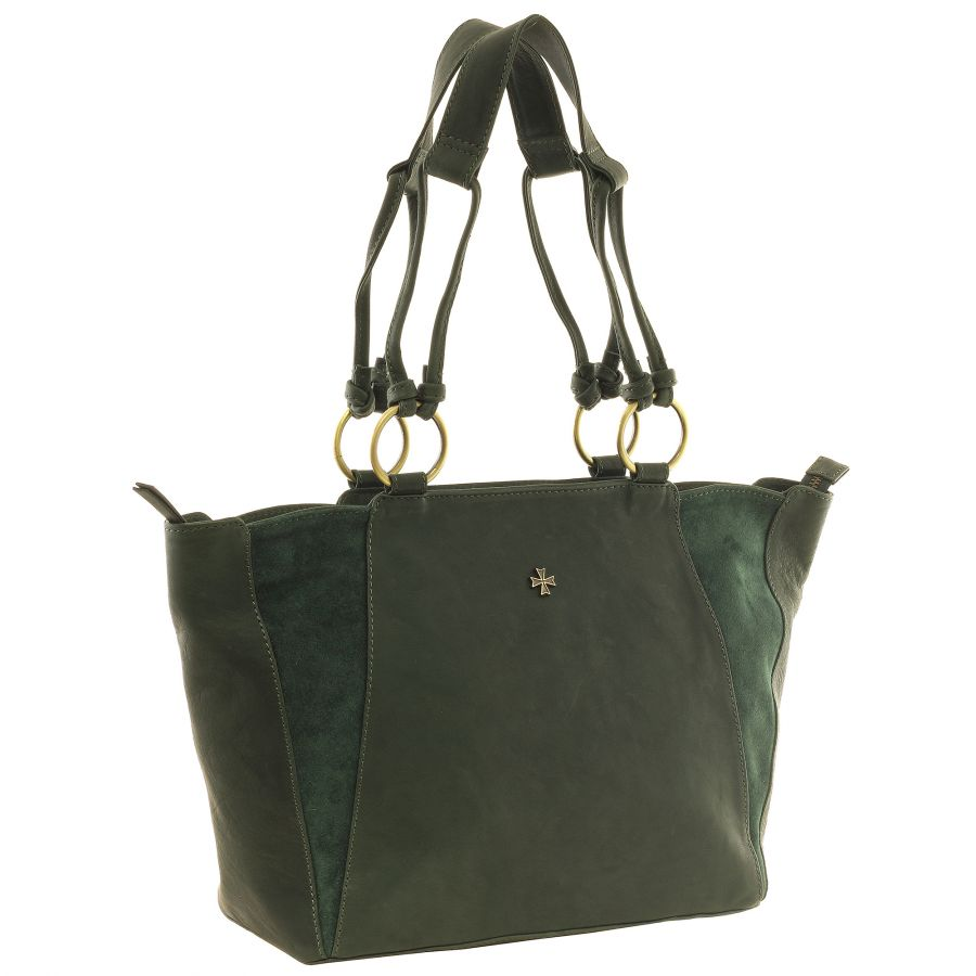 Женская кожаная сумка Narvin 9936-N.Gottier Green