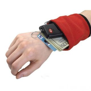 Браслет-кошелек на запястье Wirst Wellets (Вирст Валлетс), Цвет: Красный