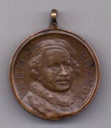 медаль 1606- 1906 года Рембрандт Амстердам