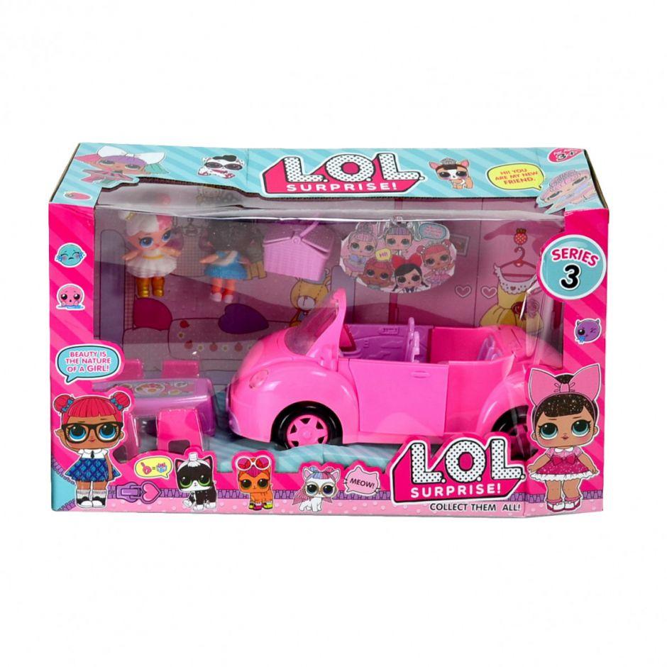 Кукла Lol набор с машинкой