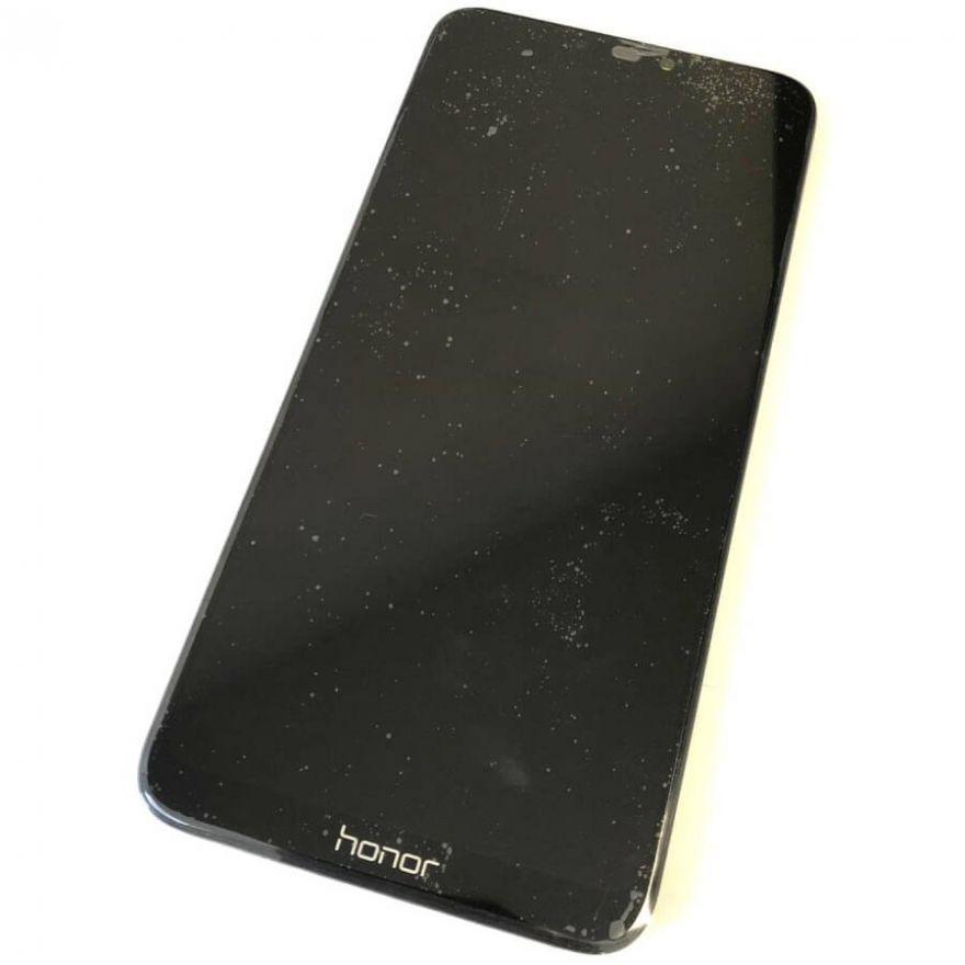 Дисплей в сборе с сенсорным стеклом, рамкой и аккумулятором для Huawei Honor 8C (Original)