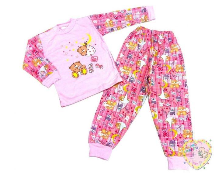 Пижама универсальная для девочки A-PJ023(2)-ITpk (интерлок-пенье)