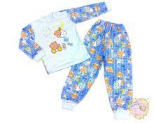 """Пижама универсальная для мальчика 3-6 лет A-PJ023(2)-ITpk (интерлок-пенье) в нежно-голубом цвете """"Мамин Малыш"""" код 01749-1"""