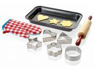 Набор для выпечки: 5 форм для печенья, скалка, противень, прихватка (арт. 11240200)