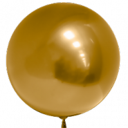 Шар (18''/46 см) Сфера 3D, Deco Bubble, Золото, хром