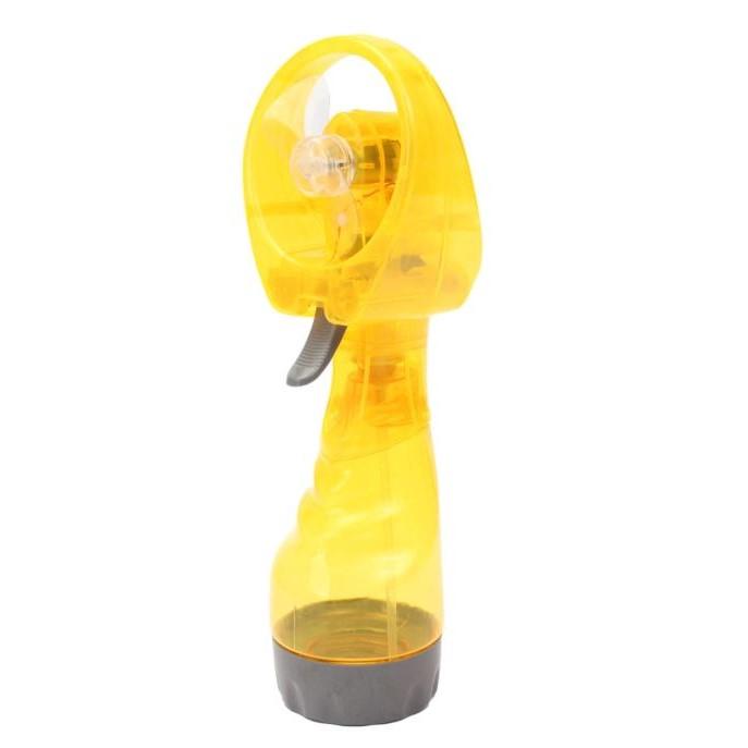 Портативный ручной вентилятор с пульверизатором WATER SPRAY FAN, цвет желтый