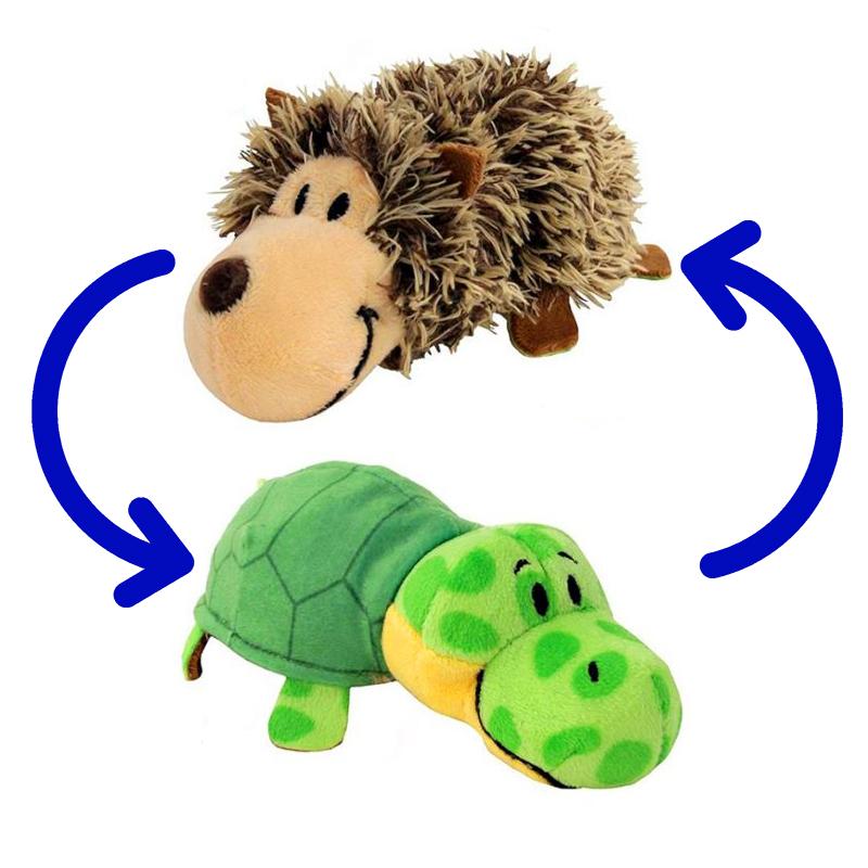 Игрушка-Перевертыш 2в1 Черепаха-Ёжик 40 см