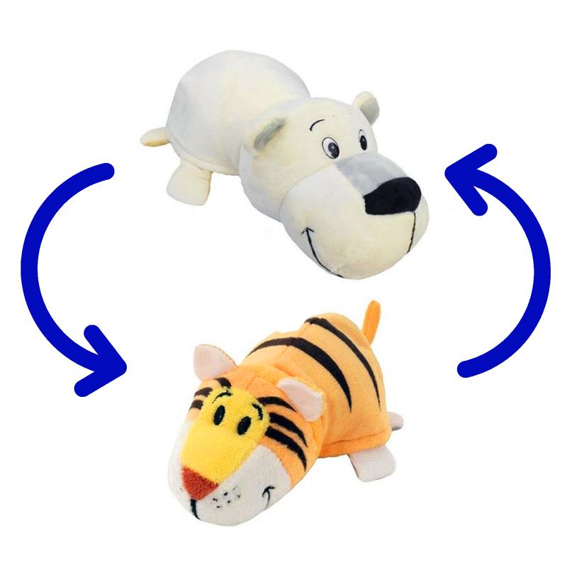 Игрушка-Перевертыш 2в1 Медведь-Тигр 40 см