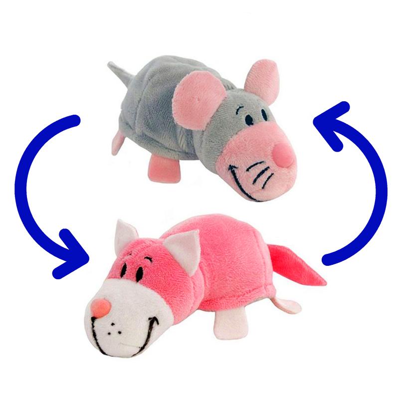 Игрушка-Перевертыш 2в1 Мышка-Кот 25 см