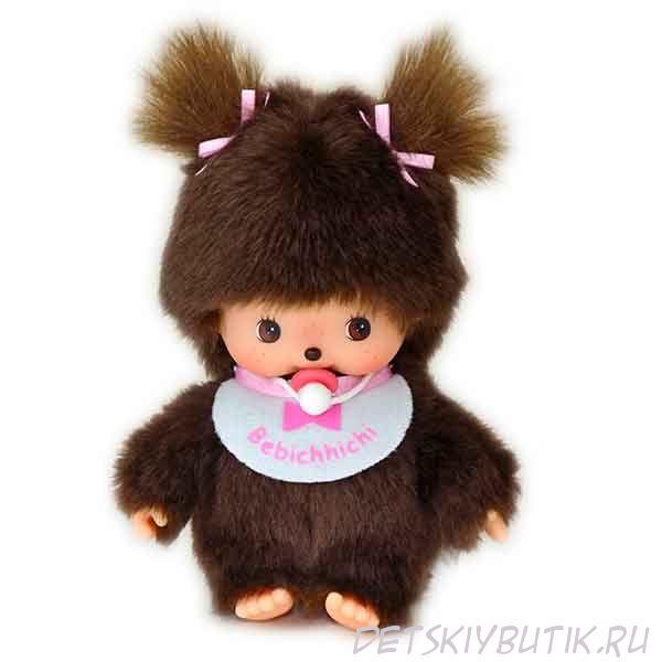 Мягкая игрушка – девочка в розовом слюнявчике Бэбичичи