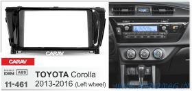 Carav 11-461 (2-DIN TOYOTA COROLLA 2013+ Черный глянец)