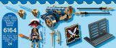 Игровой набор «Пираты - Синяя интерактивная пушка с офицером пиратов», Playmobil