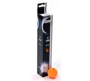 Мячики для настольного тенниса Donic T-One, 6 шт, оранжевый