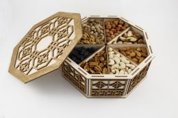 Подарочная коробка с сухофруктами 8*200гр