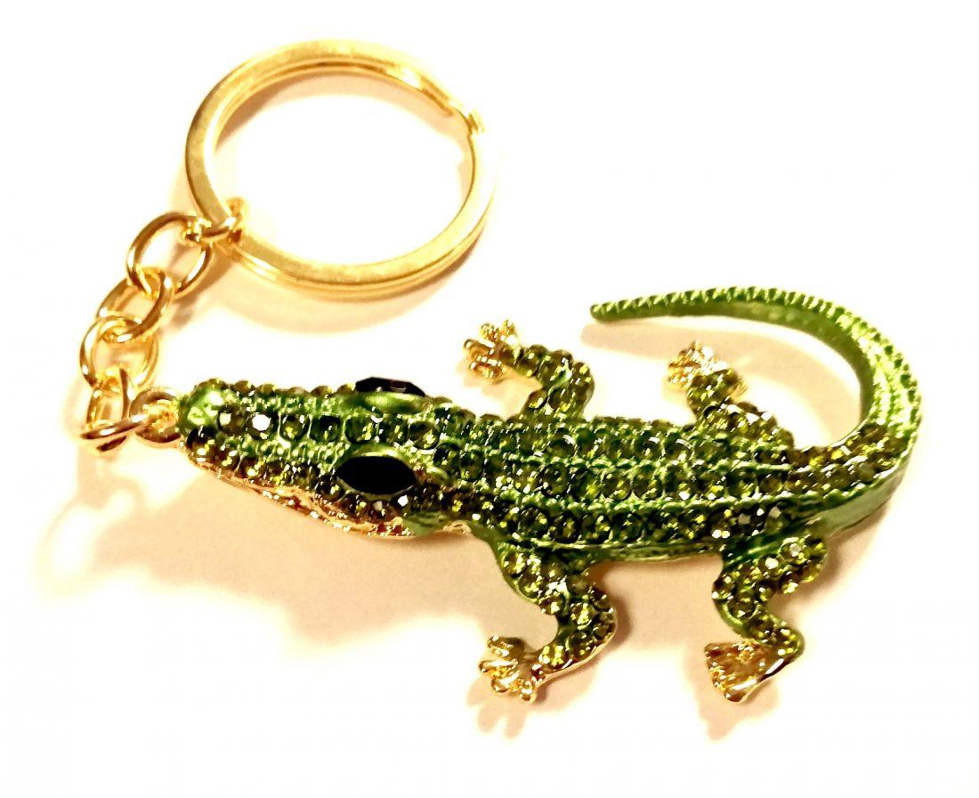 Брелок Крокодил со стразами