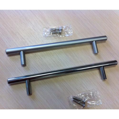 Ручка рейлинг D10 мм центр 128 общий 188, матовый хром