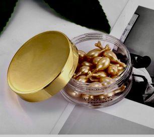 Омолаживающая сыворотка в капсулах Venzen с гидролизованным шелком и кокосовым маслом.(61798)
