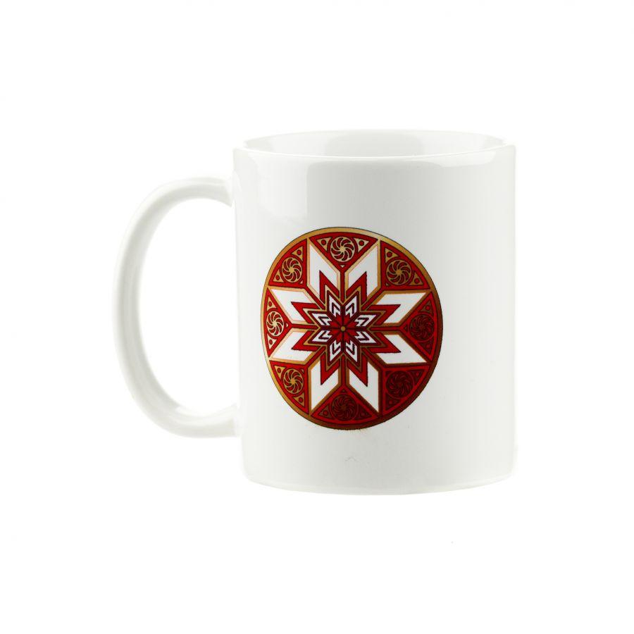 """Коллекционная сувенирная кружка с обережным символом """"Алатырь"""""""