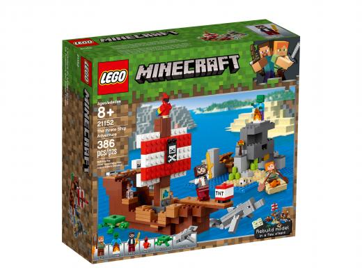 Приключения на пиратском корабле. Конструктор ЛЕГО Майнкрафт 21152
