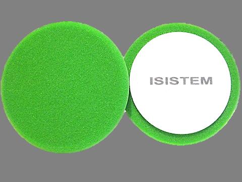 Isistem Полировальный круг из поролонa D 150 mm T 30 mm среднежесткий зеленый - ISISTEM Profi Green