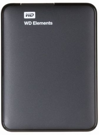 "Внешний HDD WD 2 TB Elements Portable чёрный, 2.5"", USB 3.0"