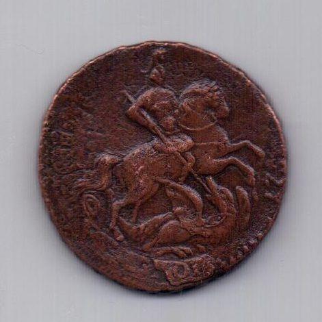 2 копейки 1758 года AUNC перечекан