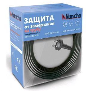 Готовый комплект кабеля NUNICHO снаружи трубы 16 Вт/м - 5 метров+ (холодный ввод  с вилкой- 2 метра).