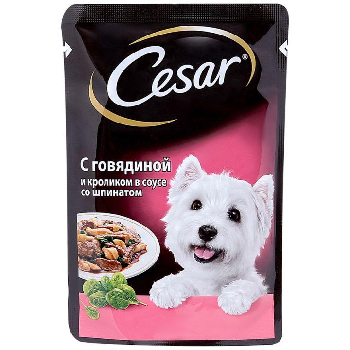 Сezar 100г говяд/кролик/шпинат
