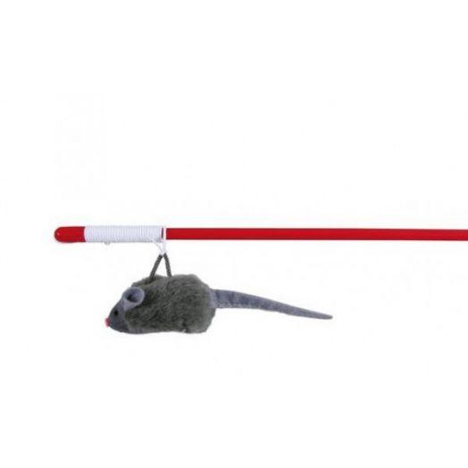 Дразнилка удочка Сибирская Кошка мышь плюшевая