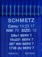 Иглы промышленные универсальные Schmetz DBx1 SERV7 №70 10 шт