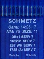 Иглы промышленные универсальные Schmetz DBx1 SERV7 №75 10 шт