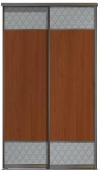 Двери купе - ЛДСП+Кожа, комбинированные