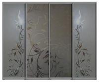 Четырехдверные двери купе - с пескоструйным рисунком