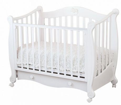 С 749 Кровать детская Валерия накладка №22 (мишка на облаке)