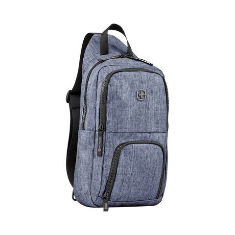 "Рюкзак Wenger ""Urban Contemporary"" с одним плечевым ремнем, цвет синий, 19х12х33 см, 8 л"