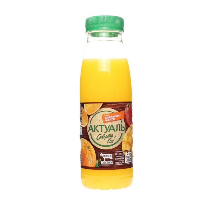 Напиток Актуаль на сыворотке апельсин/манго 310г  Юнимилк