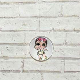 кабошон LOL-10 диаметр 25 мм материал стекло