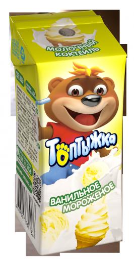 Коктейль молочный Топтыжка ванильное мороженое 3,2% 200г Ижевск