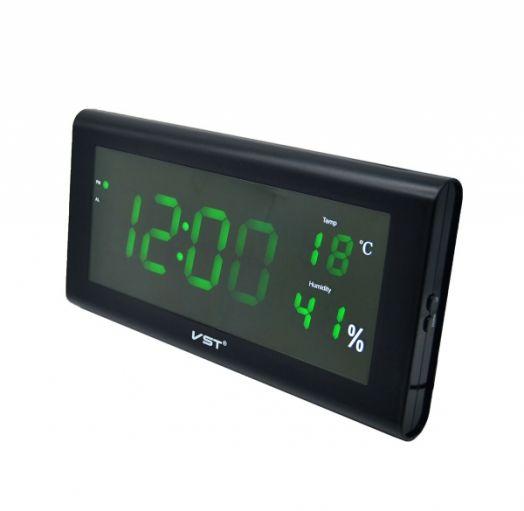 Часы эл. VST795S-4 зел.цифры